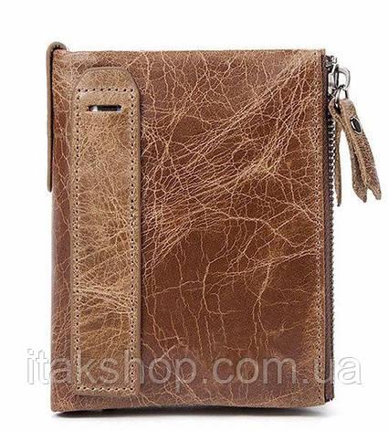 Кошелек мужской Vintage 14684 Cветло-коричневый, Коричневый, фото 2