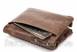 Кошелек мужской Vintage 14684 Cветло-коричневый, Коричневый, фото 3