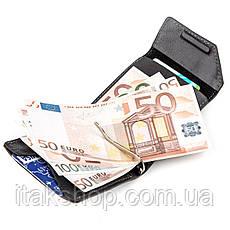Зажим для денег из итальянской кожи GRANDE PELLE 11149 Черный, Черный, фото 2