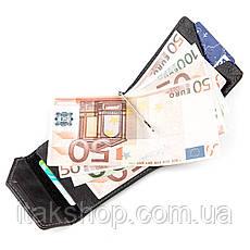 Зажим для денег из итальянской кожи GRANDE PELLE 11149 Черный, Черный, фото 3