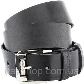 Мужской ремень SHVIGEL 10084 кожаный черный, Черный, фото 2
