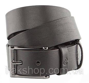 Ремень мужской GRANDE PELLE 00240 брючный Черный, Черный, фото 2