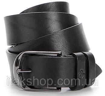 Ремень мужской GRANDE PELLE 00772 натуральная кожа Черный, Черный, фото 2