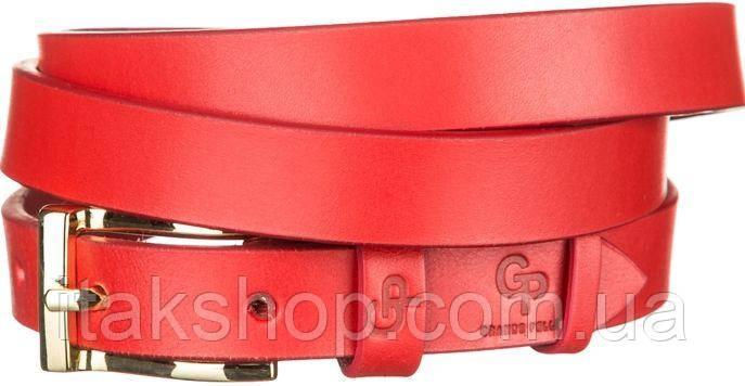Ремень женский Grande Pelle 11074 кожа Красный, Красный