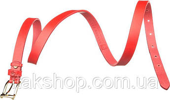 Ремень женский Grande Pelle 11074 кожа Красный, Красный, фото 2