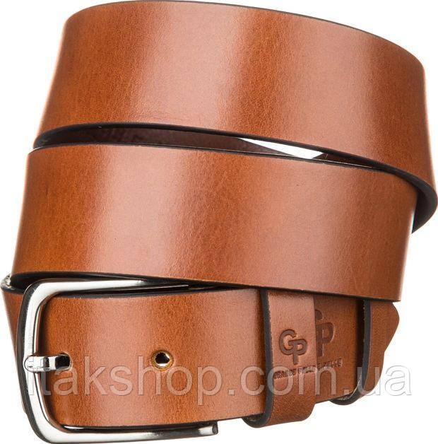 Ремень мужской Grande Pelle 11060 Коричневый, Коричневый