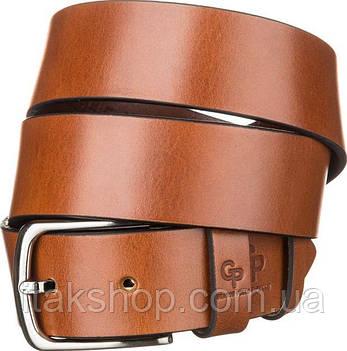 Ремень мужской Grande Pelle 11060 Коричневый, Коричневый, фото 2