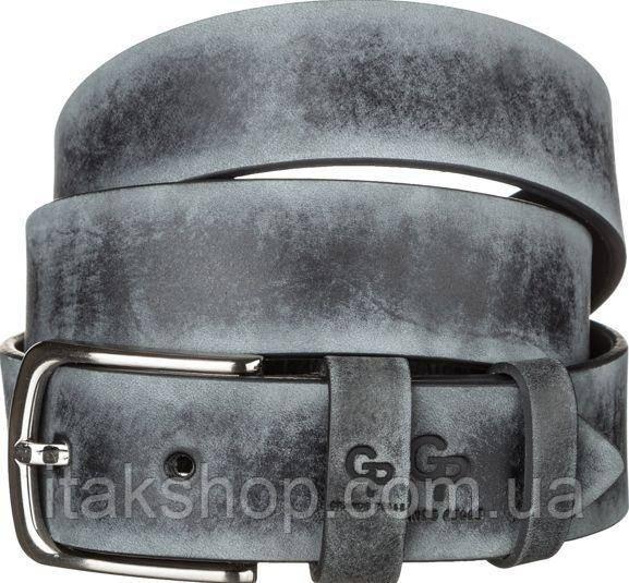 Ремень мужской Grande Pelle 11064 кожа Серый, Серый