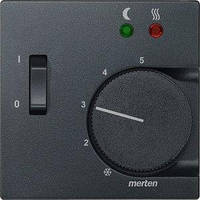 ЦП терморегулятора Merten SM с выключателем, антрацит (MTN535814)