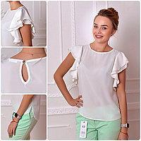 Блузка нарядная, модель 902, белая
