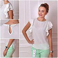Блузка нарядная, модель 902, белая, фото 1