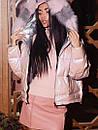Женский двухсторонний пуховик с капюшоном, фото 3