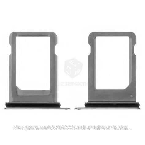Утримувач SIM-картки для Apple iPhone X Original Silver, фото 2