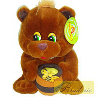 Мягкая игрушка Медведь с бочонком мёда A5-20402-2