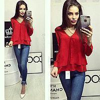 Блузка багатошарова (арт.777) червона