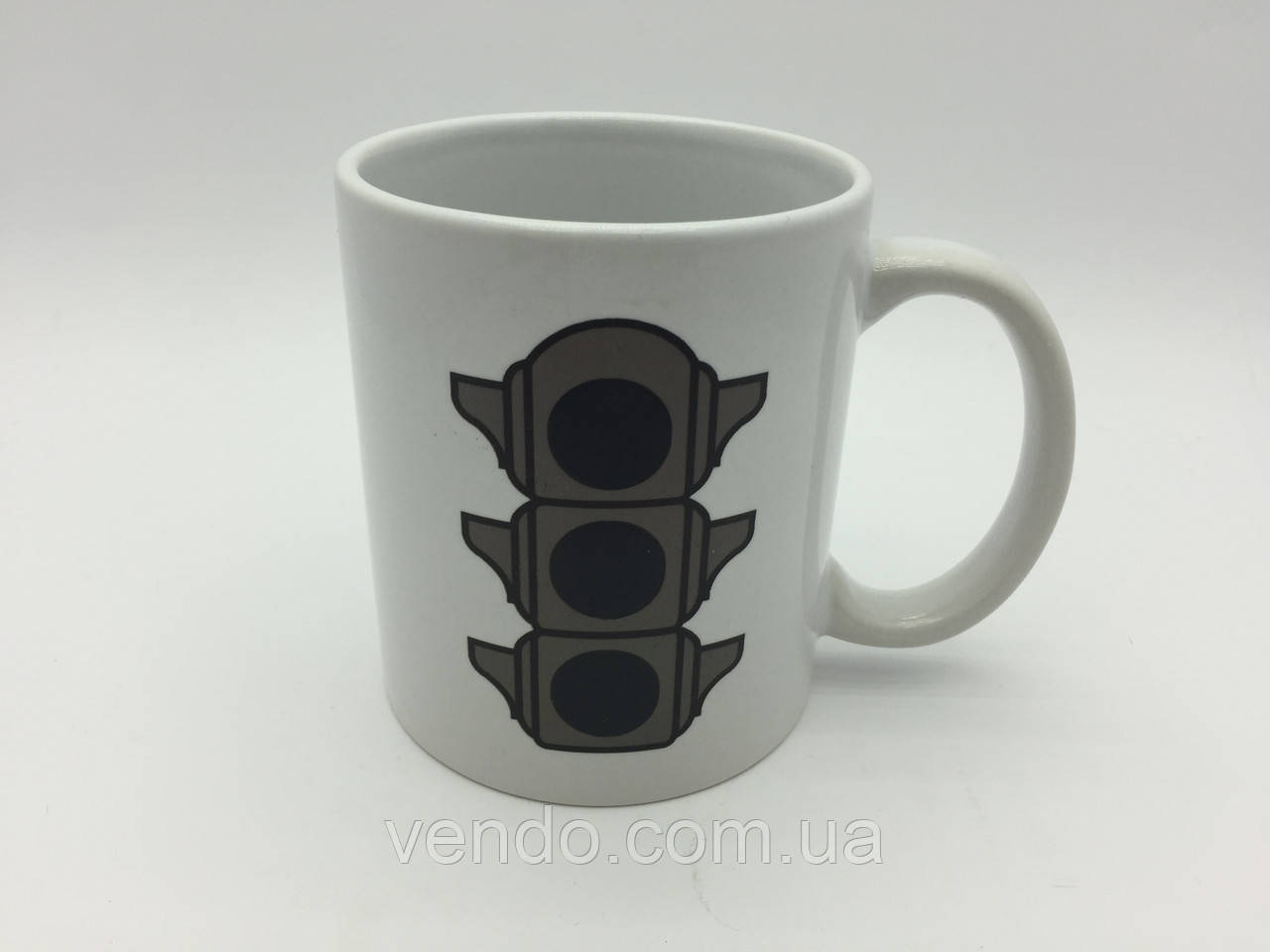 Кружка-чашка хамелеон с терморисунком Светофор