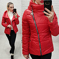Куртка короткая с капюшоном арт. 501 красная