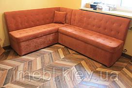 Угловой кухонный диван (Кирпичный)