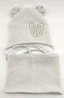 Оптом шапка детская с 48 по 52 размер хомут ангора шапки теплые головные уборы детские опт