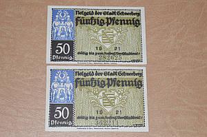 Германия. Нотгельд. 50 пфеннигов 1921 года ( 1 )