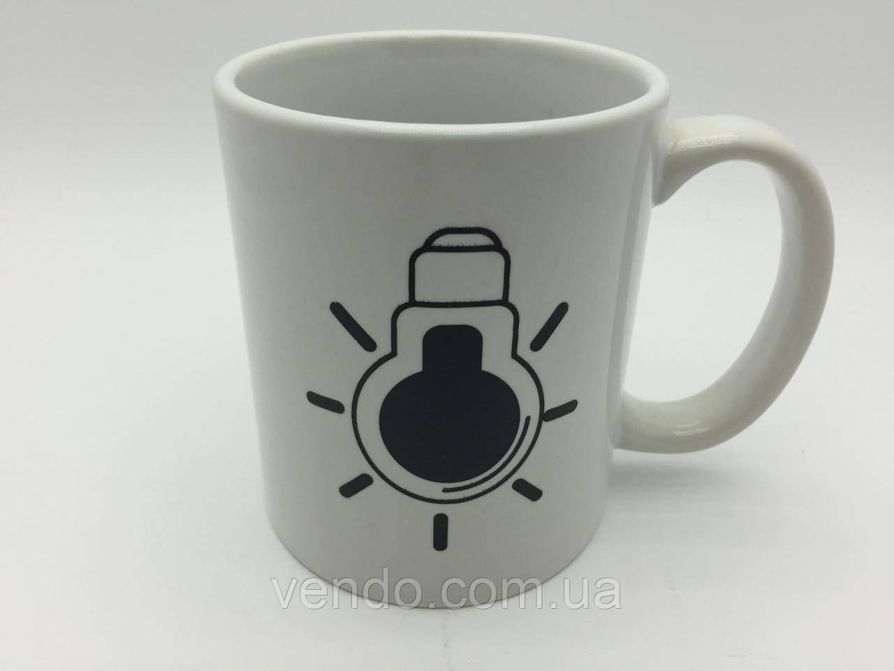 Кружка-чашка хамелеон Лампочка белая