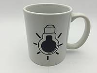Кружка-чашка хамелеон Лампочка белая, фото 1