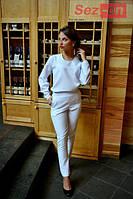 Костюм женский брюки и свободная кофта - Белый