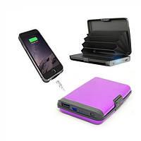 Кошелек-зарядка E-Charge Wallet Ipower bank 3000 мАч Чёрный- 178319