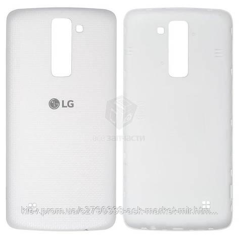 Задняя панель корпуса (крышка аккумулятора) для LG K8 (K350E, K350N), Phoenix 2 K371 Original White, фото 2