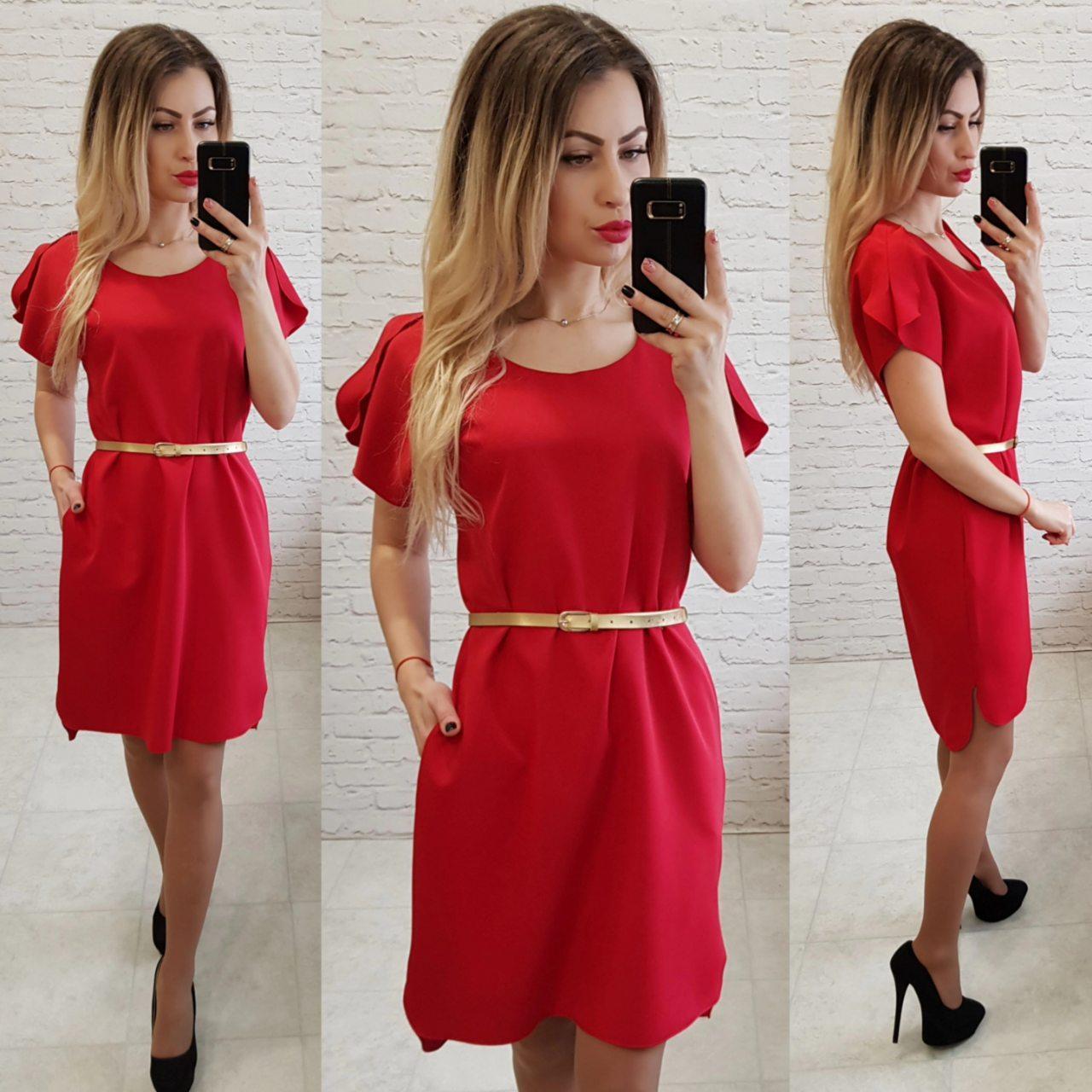 Сукня вільний з подовженою спинкою арт. 815 червоний / червоне