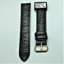 20 мм Кожаный Ремешок для часов CONDOR 305L.20.01 Черный Ремешок на часы из Натуральной кожи удлиненный, фото 2