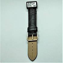 20 мм Кожаный Ремешок для часов CONDOR 305L.20.01 Черный Ремешок на часы из Натуральной кожи удлиненный, фото 3