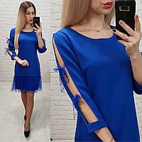 Сукня арт. 154 яскраво синє / синій електрик, фото 1