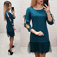 Платье арт. 154 сине-зеленый / морская волна / аквамарин, фото 1