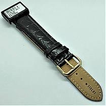 20 мм Кожаный Ремешок для часов CONDOR 119L.20.01 Черный Ремешок на часы из Натуральной кожи удлиненный, фото 2
