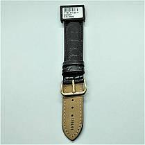 20 мм Кожаный Ремешок для часов CONDOR 119L.20.01 Черный Ремешок на часы из Натуральной кожи удлиненный, фото 3