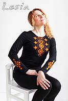 Жіноча вишиванка Хвилька оранж