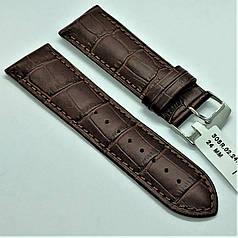 Ремінець з натуральної шкіри CONDOR 305.24.02 (24 мм) коричневий шкіряний ремінець на годинник ремінець для