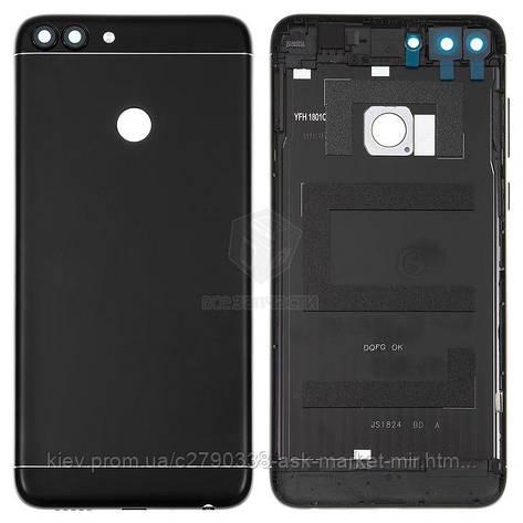 Задня панель корпусу (кришка акумулятора) для Huawei Enjoy 7s, P Smart (FIG-L21, FIG-L31) Black Original, фото 2