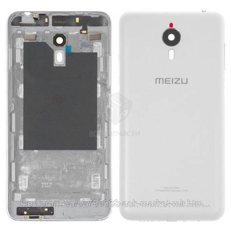Задняя панель корпуса (крышка аккумулятора) для Meizu M1 Metal Original White, фото 2