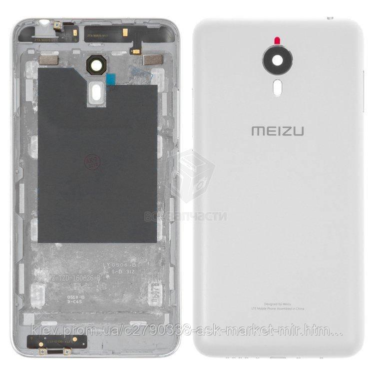 Задняя панель корпуса (крышка аккумулятора) для Meizu M1 Metal Original White