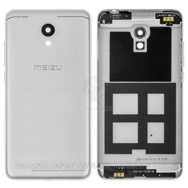 Задня панель корпусу (кришка акумулятора) для Meizu M6 (M711H, M711M, M711Q) Original Silver