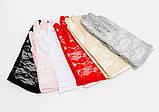 Оригінальні ніжно рожевого кольору мереживні рукавички, фото 2