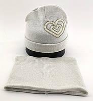 Оптом шапка детская с 48 по 52 размер хомут ангора шапки теплые головные уборы детские опт, фото 1