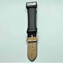 22 мм Кожаный Ремешок для часов CONDOR 054L.22.01 Черный Ремешок на часы из Натуральной кожи удлиненный, фото 2