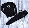 Мужской теплый спортивный костюм AX (48 50 52) (цвет черный) СП