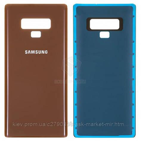 Задняя панель корпуса (крышка аккумулятора) для Samsung Galaxy Note 9 N960F, Galaxy Note 9 Duos N960FD Original Brown, фото 2