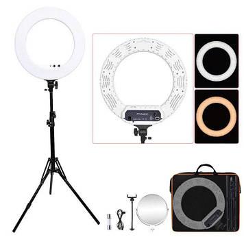 Кільцева лампа з штативом R480C, 78 Вт Сумка , Дзеркало , Телефон тримач , Регулятор тональності світла