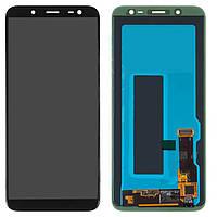 Дисплей Samsung J600F Galaxy J6, черный, с сенсорным экраном, Original (PRC), original glass