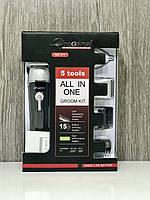 Беспроводная машинка профессиональная для стрижки волос набор 5в1 супер предложение +аккумулятор Gemei GM-571